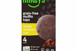 DOUBLE CHOCOLATE CHIP GRAIN-FREE MUFFIN TOPS