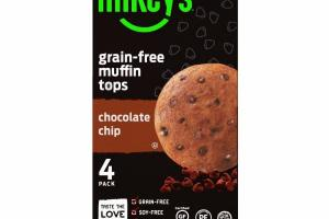CHOCOLATE CHIP GRAIN-FREE MUFFIN TOPS