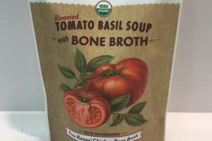 Organic Roasted Tomato Basil Soup With Bone Broth