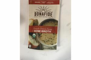 ORGANIC FRENCH ONION SOUP WITH BEEF BONE BROTH