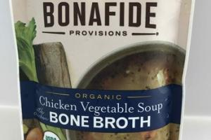 ORGANIC CHICKEN VEGETABLE SOUP WITH CHICKEN BONE BROTH