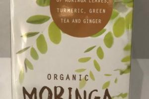 ORGANIC A TEA BLEND OF MORINGA LEAVES, TURMERIC, GREEN, GREEN TEA AND GINGER