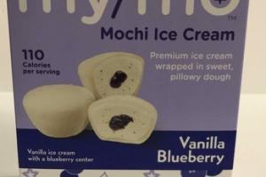 VANILLA BLUEBERRY PREMIUM MOCHI ICE CREAM