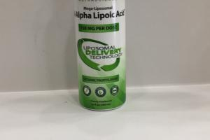 Mega-liposomal R-alpha Lipoic Acid Dietary Supplement