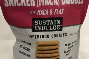 SNICKER (MACA) DOODLE WITH MACA & FLAX SUPERFOOD COOKIES