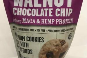 WALNUT CHOCOLATE CHIP PREMIUM COOKIES MADE WITH SUPERFOODS