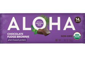 CHOCOLATE FUDGE BROWNIE ORGANIC PROTEIN BARS