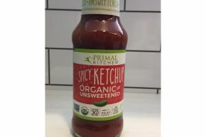 ORGANIC AND UNSWEETENED SPICY KETCHUP