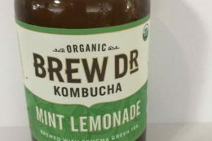 ORGANIC MINT LEMONADE BREWED WITH SENCHA GREEN TEA KOMBUCHA