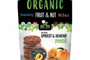 SUN-DRIED APRICOT & ALMOND SNACKING FRUIT & NUT BITES PIECES