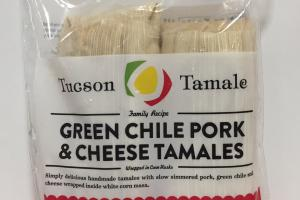 Green Chile Pork & Cheese Tamales
