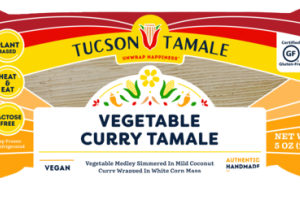 VEGETABLE MEDLEY SIMMERED IN MILD COCONUT CURRY TAMALE WRAPPED IN WHITE CORN MASA