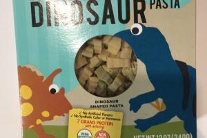 Organic Dinosaur Pasta