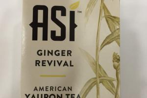 Ginger Revival American Yaupon Tea