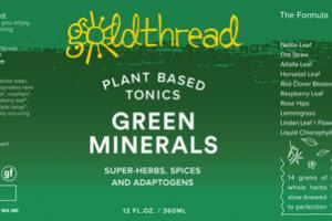GREEN MINERALS PLANT BASED TONICS