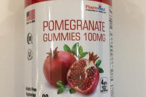 Pomegranate Gummies Dietary Supplement