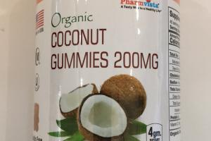 Organic Coconut Gummy Bears Dietary Supplement