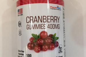 Cranberry Gummies 400mg Dietary Supplement