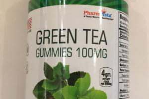 Green Tea Gummies 100mg Dietary Supplement