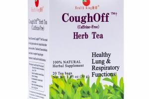 COUGHOFF (CAFFEINE-FREE) HERB TEA 100% NATURAL HERBAL SUPPLEMENT TEA BAGS