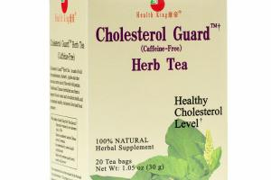 CHOLESTEROL GUARD (CAFFEINE-FREE) HERB TEA HERBAL SUPPLEMENT TEA BAGS