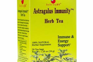 IMMUNE, ENERGY & STAMINA SUPPORT HERBAL SUPPLEMENT TEA BAGS