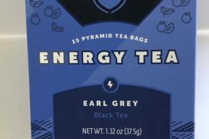 EARL GREY ENERGY BLACK PYRAMID TEA BAGS
