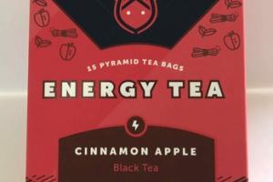 CINNAMON APPLE BLACK ENERGY PYRAMID TEA BAGS