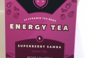 SUPERBERRY SAMBA ENERGY GREEN TEA