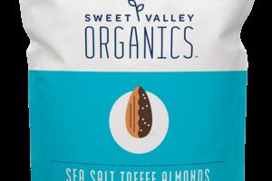 SEA SALT TOFFEE ALMONDS ORGANIC DARK CHOCOLATE SNACK BITES