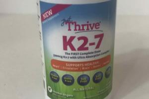 K2-7 SUPPORTS HEALTHY HEART, CIRCULATION, BRAIN, BONES, NERVES DIETARY SUPPLEMENT
