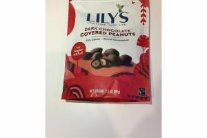 DARK CHOCOLATE COVERED PEANUTS