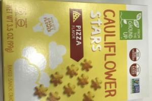 PIZZA FLAVOR CAULIFLOWER STARS BAKED SNACK CRACKERS