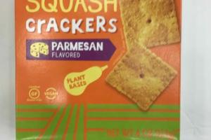 PARMESAN FLAVORED BUTTERNUT SQUASH CRACKERS