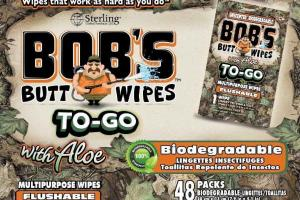 BIODEGRADABLE FLUSHABLE MULTIPURPOSE BUTT WIPES WITH ALOE