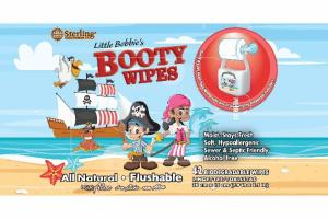 ALL NATURAL FLUSHABLE BIODEGRADABLE BOOTY WIPES WITH ALOE