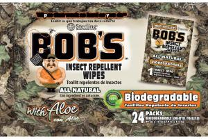 ALL NATURAL INSECT REPELLENT WIPES WITH ALOE