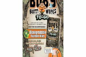 ALCOHOL FREE FLUSHABLE BIODEGRADABLE BUTT WIPES WITH ALOE