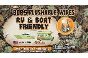 FLUSHABLE BIODEGRADABLE RV & BOAT FRIENDLY WIPES WITH ALOE