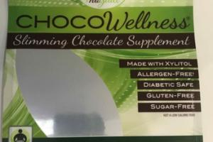 CHOCOWELLNESS SLIMMING CHOCOLATE SUPPLEMENT, MINT