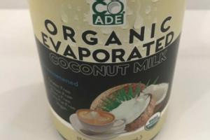 ORGANIC UNSWEETENED EVAPORATED COCONUT MILK