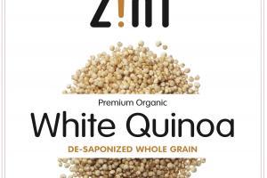 Premium Organic White Quinoa De-saponized Whole Grain