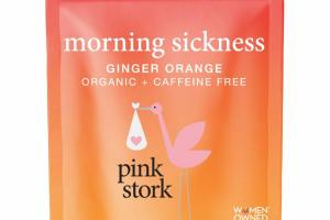 ORGANIC + CAFFEINE FREE MORNING SICKNESS NAUSEA HERBAL SUPPLEMENT TEA, GINGER ORANGE