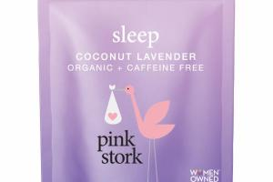 ORGANIC + CAFFEINE FREE SLEEP SUPPORT HERBAL SUPPLEMENT TEA, COCONUT LAVENDER