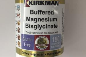 Buffered Magnesium Bisglycinate Dietary Supplement