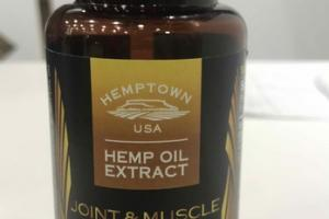 JOINT & MUSCLE SUPPORT HEMP OIL EXTRACT DIETARY SUPPLEMENT VEGETARIAN CAPSULES