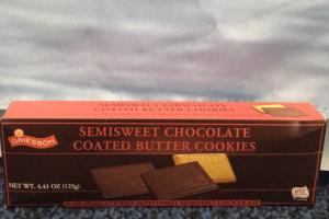Semisweet Chocolate Coated Butter Cookies