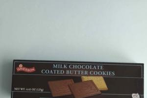 MILK CHOCOLATE COATED BUTTER COOKIES