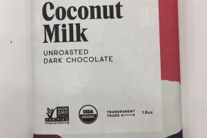 Coconut Milk Unroasted Dark Chocolate