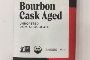 Bourbon Cask Aged Unroasted Dark Chocolate